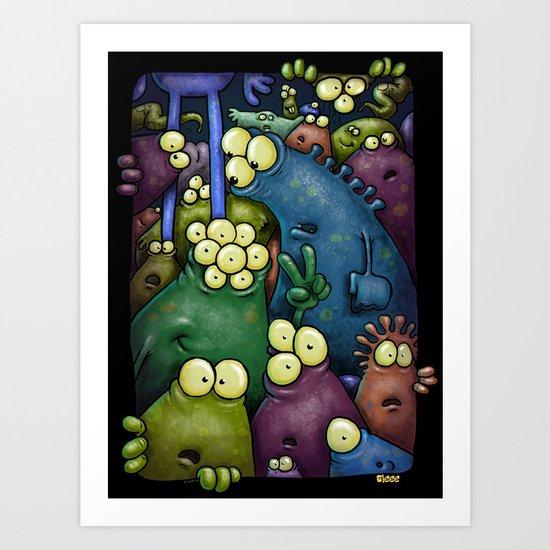 Crowded Aliens Art Print