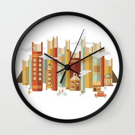Big Books, Little People Wall Clock