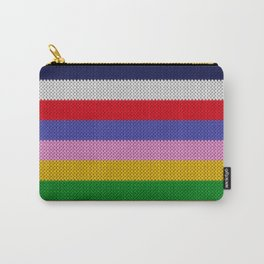 Knitted colorful stripes  Carry-All Pouch