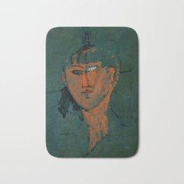 "Amedeo Modigliani ""Red Head (Tête rouge)"" Bath Mat"