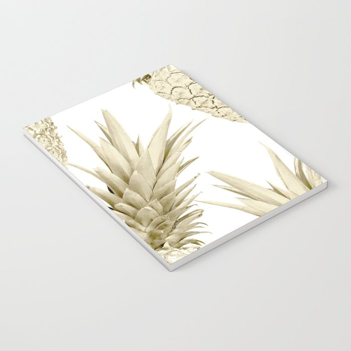 Gold Pineapple Party Notebook