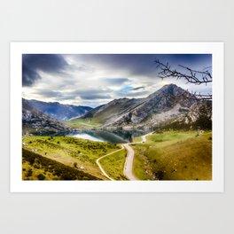 The Lakes of Covadonga, Enol Art Print
