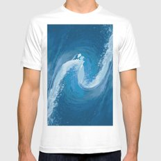 Wave Mens Fitted Tee MEDIUM White