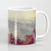 north carolina Mugs featuring Autumn in North Carolina by Kadwell Enz