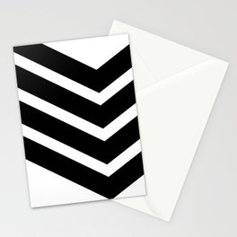 Black Chevron Stationery Cards