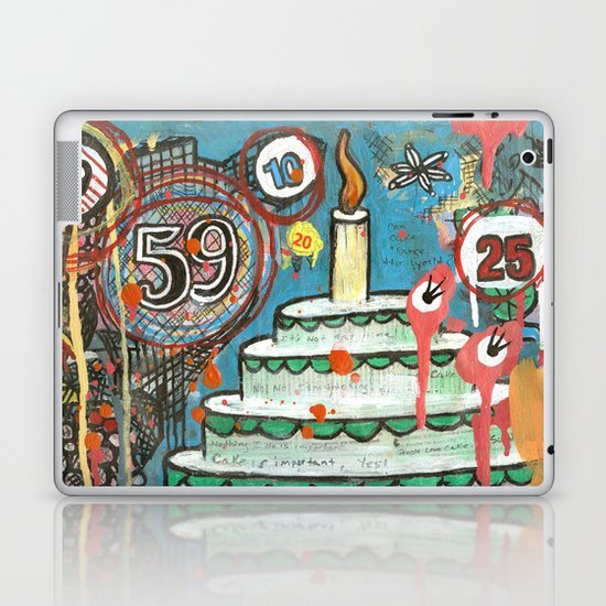 I Love Cake!  Laptop & iPad Skin