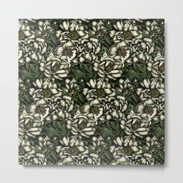 Botanic white Metal Print