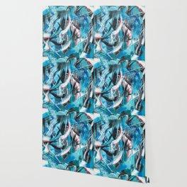 Puppy's Blue Summer Dream Wallpaper