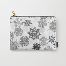 Snowflake Pattern (White) Carry-All Pouch