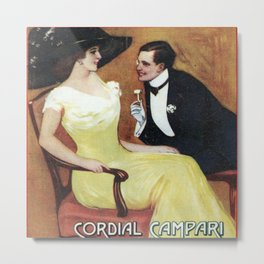 Vintage 1910 Cordial Campari Italian Alcoholic Drink Advertisement by Gian Emilio Metal Print