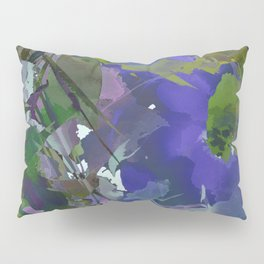 Violet Water Blossoms Pillow Sham