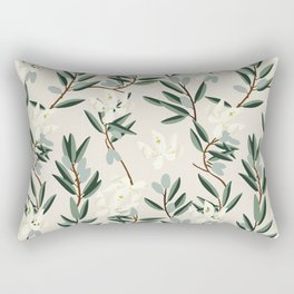 OLIVE BLOOM Rectangular Pillow