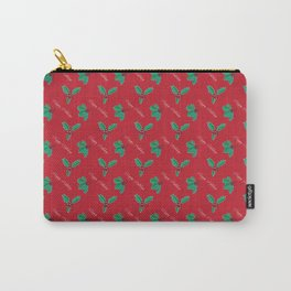 Holy Berry Happy Holidays Red Carry-All Pouch