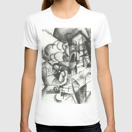 August Macke Cubist Division of Space with Figures T-shirt