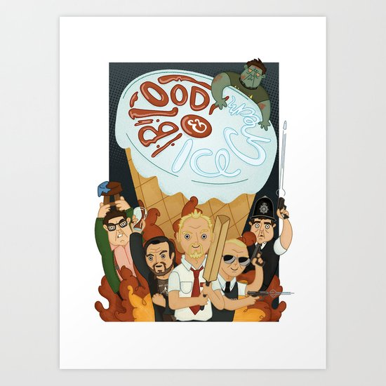 Blood & Ice Cream Art Print