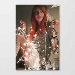 Mori Chirstmas lights Canvas Print