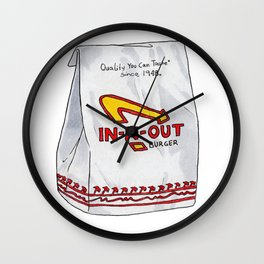 The holy grail of burgers Wall Clock