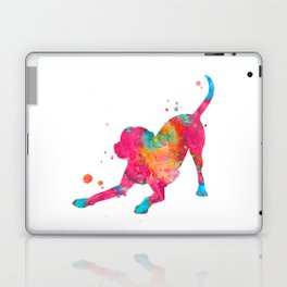 Colorful Playful Labrador Laptop & iPad Skin