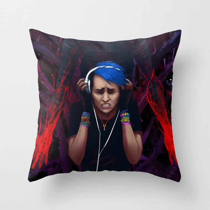 Drown It Out Throw Pillow