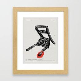 BREAK A LEG Framed Art Print