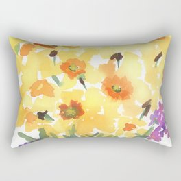 Spring Daffodil Patch Rectangular Pillow