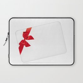 Card with red bow Laptop Sleeve