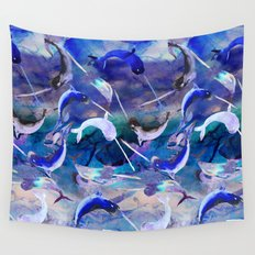 Ocean narwhal  Wall Tapestry