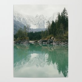 Turquoise lake - Landscape and Nature Photography Poster