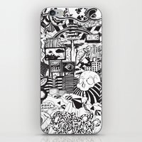 doughnut iPhone & iPod Skins featuring Doughnut City by Adam Travers