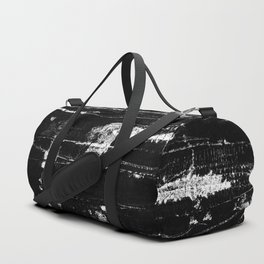 Distressed Grunge 102 in B&W Duffle Bag