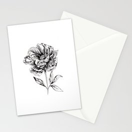 Peonia Flower Stationery Cards