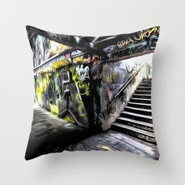 London Graffiti Art Throw Pillow