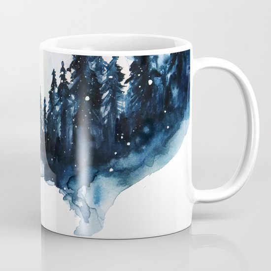 Winter Watercolor Coffee Mug