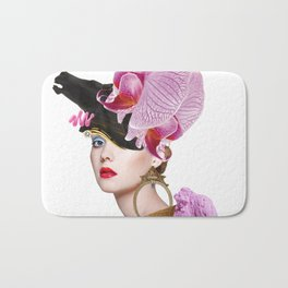 Flower Icecream by Lenka Laskoradova Bath Mat