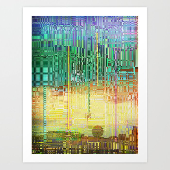 Atlante / CITIES over CITIES Art Print