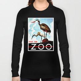 Visit the Zoo, herons Long Sleeve T-shirt