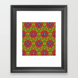 FLOR XL green Framed Art Print
