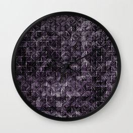 Ink Stitch: Amethyst (dark) Wall Clock
