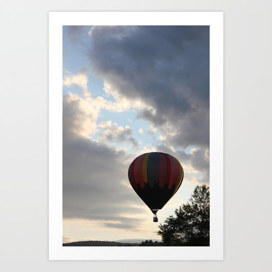 Adrift Amongst the Clouds Art Print