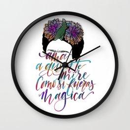 Magica de Frida Wall Clock
