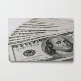 Money, Money, Money Metal Print