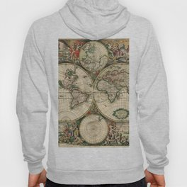 Vintage Map of the world Hoody