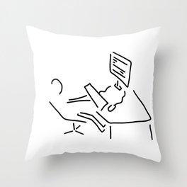 information scientist nerd computer Throw Pillow