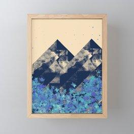 Blue Mountains #society6 #decor #buyart Framed Mini Art Print