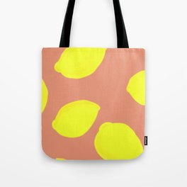 Lemon Print Tote Bag