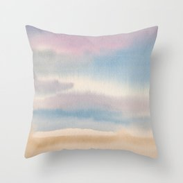Abstract Watercolor Landscape Throw Pillow