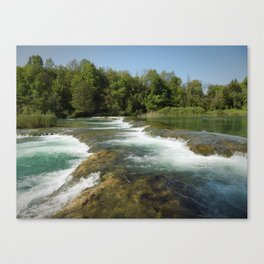 Mrežnica river Canvas Print