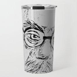 Beard man with lenses Travel Mug