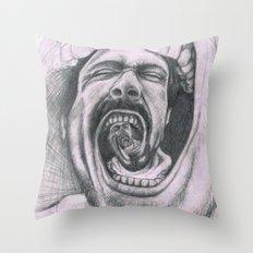 Mouthh Throw Pillow