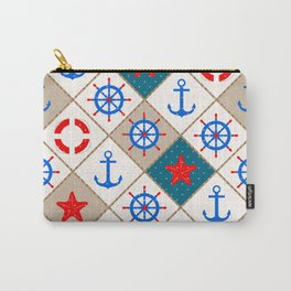 Nautical pattern . 1 Carry-All Pouch